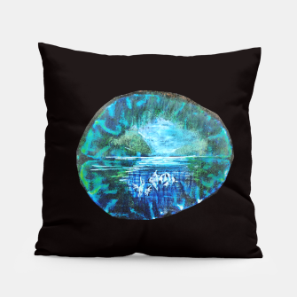 Imagen en miniatura de lost and found world brain art for paratissima 19 Yulia A Korneva mri immage Pillow, Live Heroes