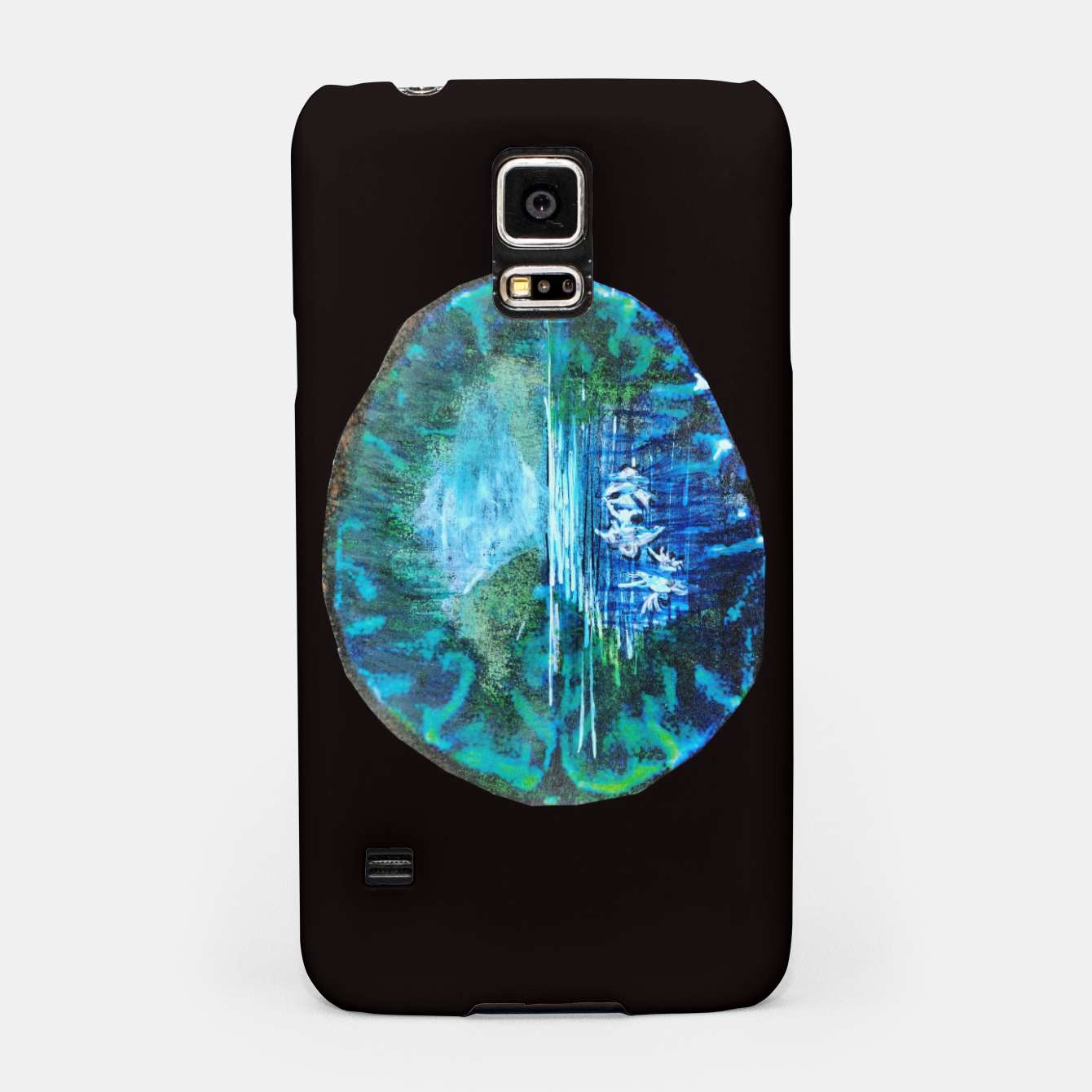 Image of lost and found world brain art for paratissima 19 Yulia A Korneva mri immage Samsung Case - Live Heroes