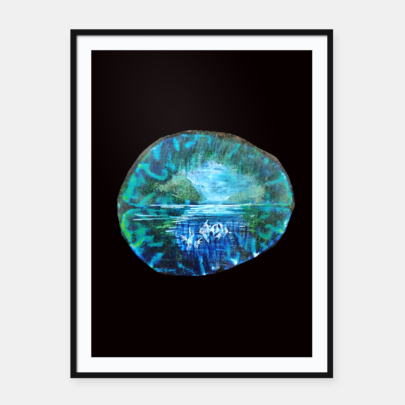 Image of lost and found world brain art for paratissima 19 Yulia A Korneva mri immage Framed poster - Live Heroes