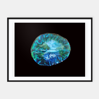 Imagen en miniatura de lost and found world brain art for paratissima 19 Yulia A Korneva mri immage Framed poster, Live Heroes