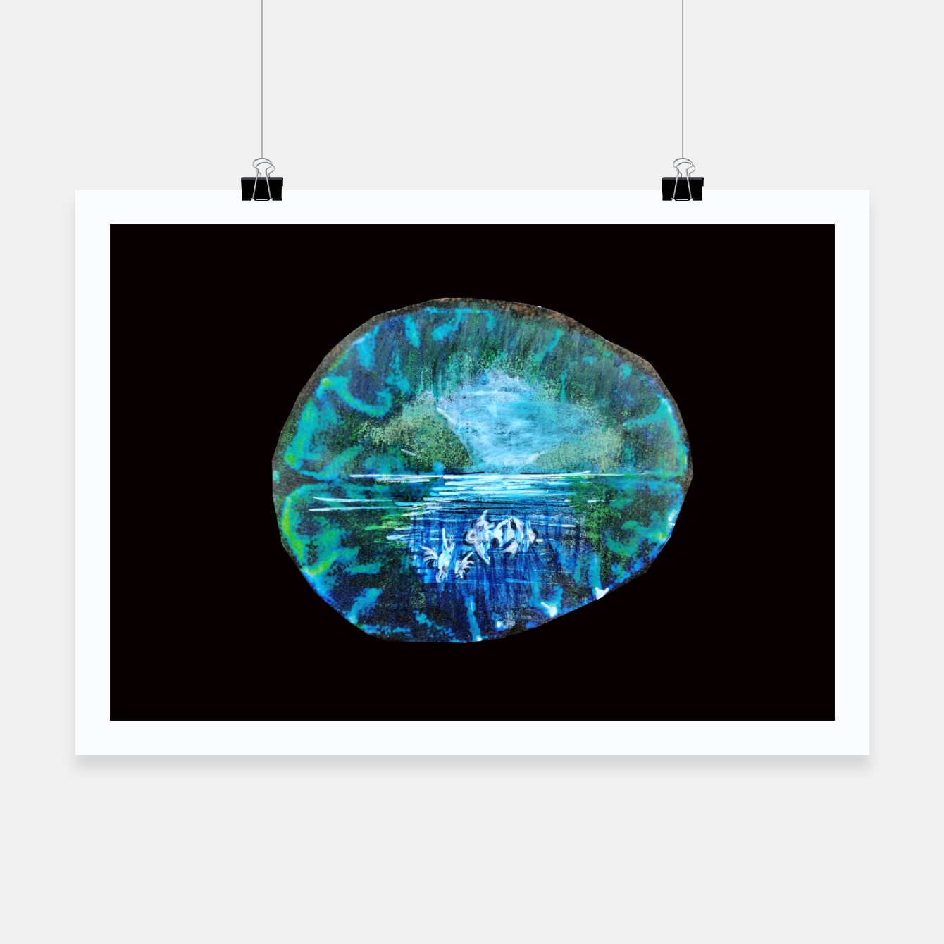 Image of lost and found world brain art for paratissima 19 Yulia A Korneva mri immage Poster - Live Heroes