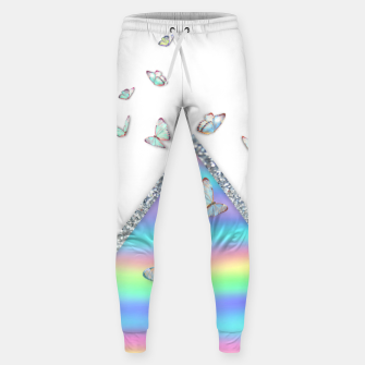 Thumbnail image of MINIMAL HOLOGRAPHIC BUTTERFLIES Pantalones de chándal , Live Heroes