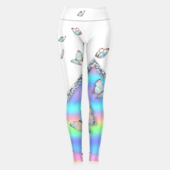 Thumbnail image of MINIMAL HOLOGRAPHIC BUTTERFLIES Leggings, Live Heroes
