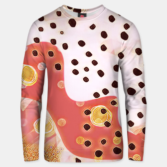 Miniatur pink coral gold brown abstract digital painting Unisex sweater, Live Heroes