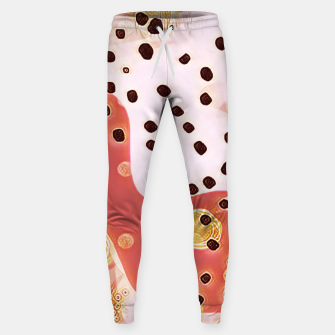 Miniatur pink coral gold brown abstract digital painting Sweatpants, Live Heroes