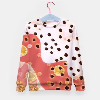 Miniatur pink coral gold brown abstract digital painting Kid's sweater, Live Heroes