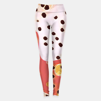 Miniaturka pink coral gold brown abstract digital painting Leggings, Live Heroes