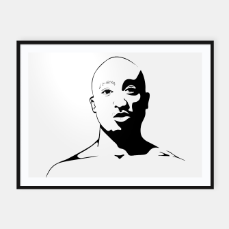 Thumbnail image of Tupac keep your head up Framed poster, Live Heroes