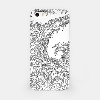 Thumbnail image of Wandering 23: black & white line art iPhone Case, Live Heroes