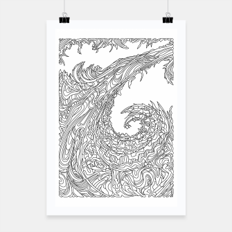 Thumbnail image of Wandering 23: black & white line art Poster, Live Heroes