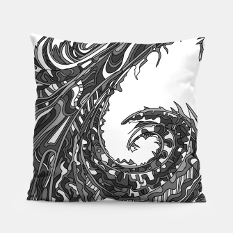 Thumbnail image of Wandering 23: grayscale Pillow, Live Heroes
