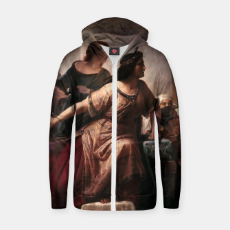 Thumbnail image of Semiramis by Christian Köhler Old Masters Reproductions Zip up hoodie, Live Heroes