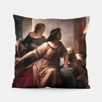 Thumbnail image of Semiramis by Christian Köhler Old Masters Reproductions Pillow, Live Heroes