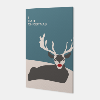 I Hate Christmas Canvas Bild der Miniatur