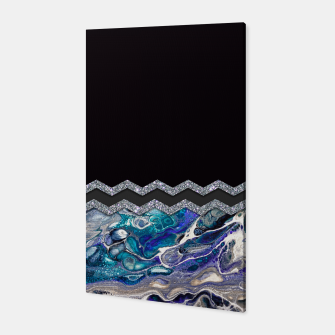 BLUE OCEAN MINIMAL LIQUID PAINTING Canvas thumbnail image