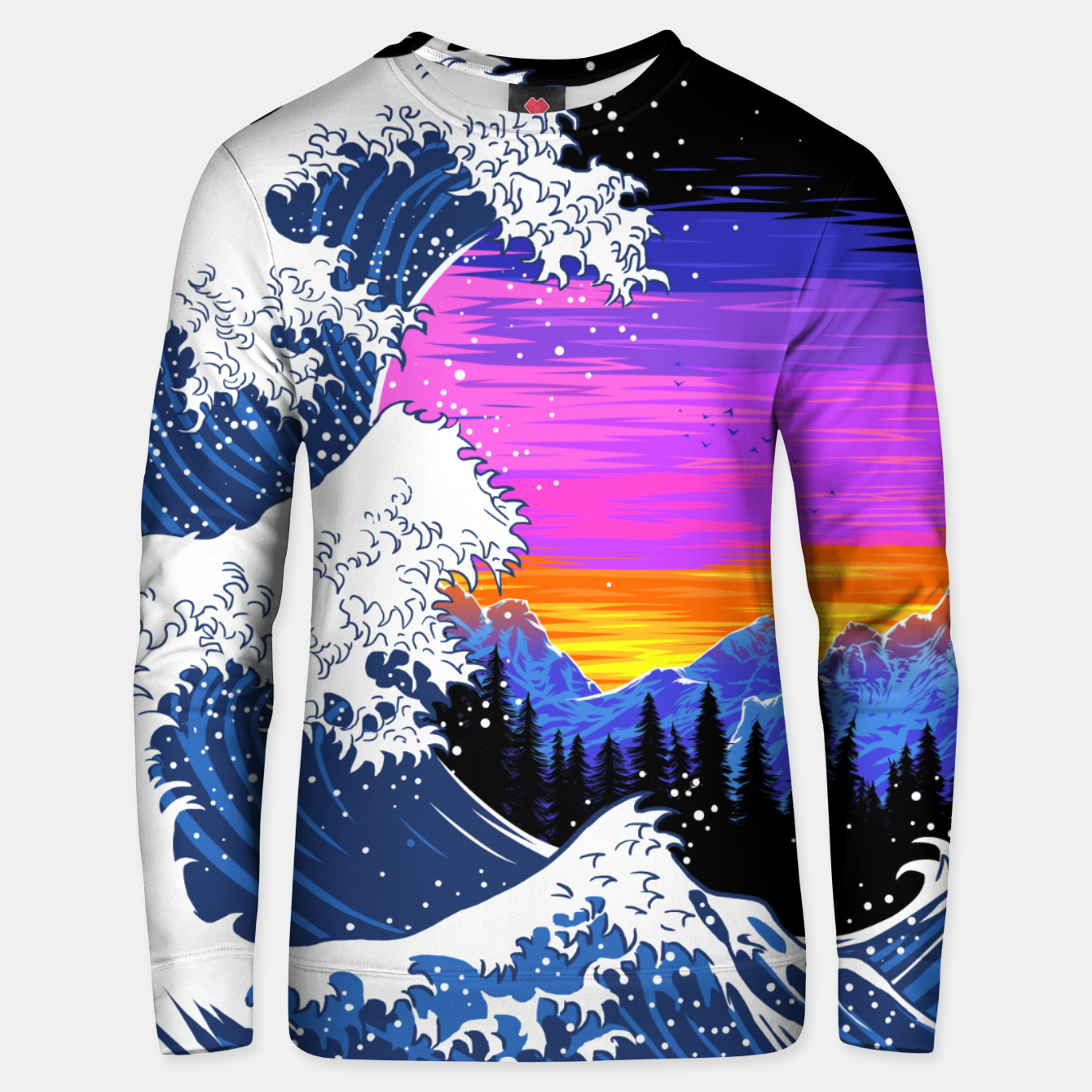 Foto Mountain Wave Sudadera unisex - Live Heroes