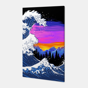 Miniatur Mountain Wave Canvas, Live Heroes
