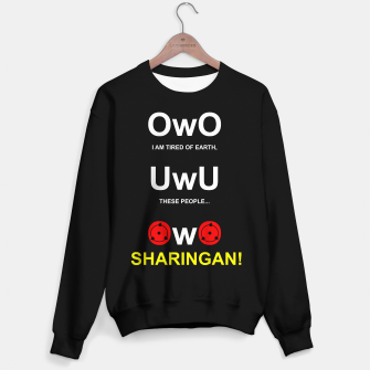 Thumbnail image of Funny UWU and OWO Otaku Internet Meme Sudadera regular, Live Heroes