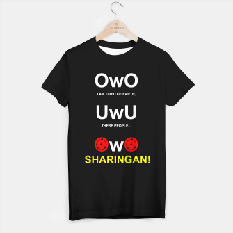 Thumbnail image of Funny UWU and OWO Otaku Internet Meme Camiseta Regular, Live Heroes