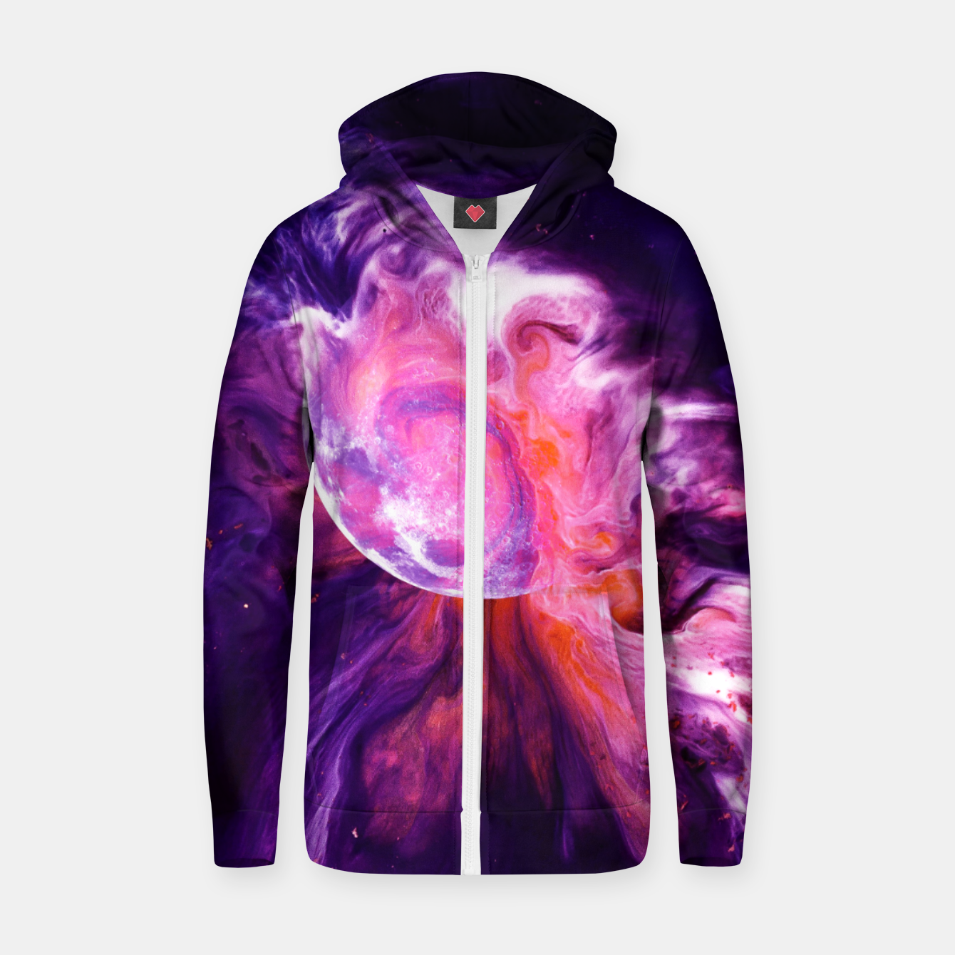Image of Nebula 808 Zip up hoodie - Live Heroes