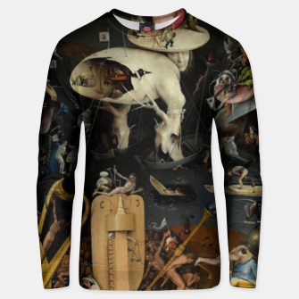 Thumbnail image of Hieronymus Bosch-The Garden of Earthly Delights (Hell) Unisex sweater, Live Heroes