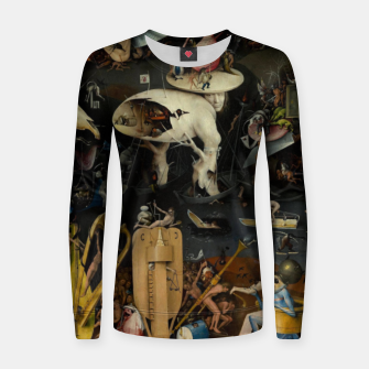 Thumbnail image of Hieronymus Bosch-The Garden of Earthly Delights (Hell) Women sweater, Live Heroes