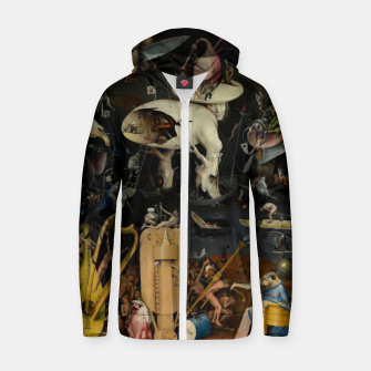 Thumbnail image of Hieronymus Bosch-The Garden of Earthly Delights (Hell) Zip up hoodie, Live Heroes
