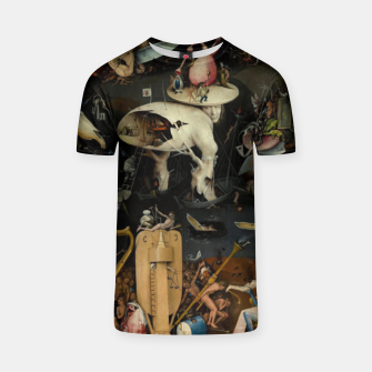 Thumbnail image of Hieronymus Bosch-The Garden of Earthly Delights (Hell) T-shirt, Live Heroes