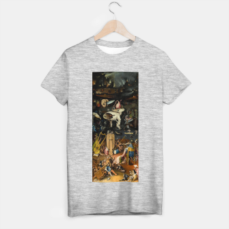 Miniaturka Hieronymus Bosch-The Garden of Earthly Delights (Hell) T-shirt regular, Live Heroes