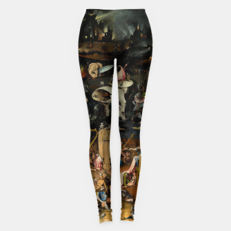 Thumbnail image of Hieronymus Bosch-The Garden of Earthly Delights (Hell) Leggings, Live Heroes