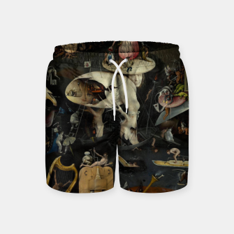 Thumbnail image of Hieronymus Bosch-The Garden of Earthly Delights (Hell) Swim Shorts, Live Heroes
