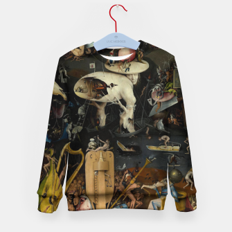Thumbnail image of Hieronymus Bosch-The Garden of Earthly Delights (Hell) Kid's sweater, Live Heroes