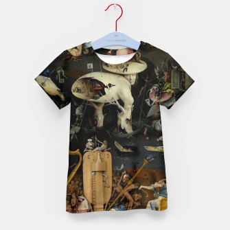 Thumbnail image of Hieronymus Bosch-The Garden of Earthly Delights (Hell) Kid's t-shirt, Live Heroes