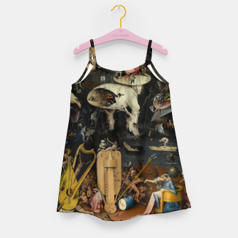 Thumbnail image of Hieronymus Bosch-The Garden of Earthly Delights (Hell) Girl's dress, Live Heroes