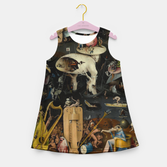 Thumbnail image of Hieronymus Bosch-The Garden of Earthly Delights (Hell) Girl's summer dress, Live Heroes