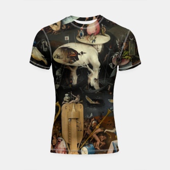 Miniatur Hieronymus Bosch-The Garden of Earthly Delights (Hell) Shortsleeve rashguard, Live Heroes