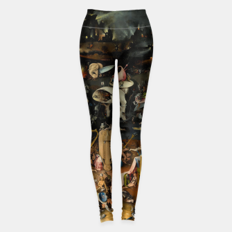 Miniatur Hieronymus Bosch-The Garden of Earthly Delights (Hell) Leggings, Live Heroes