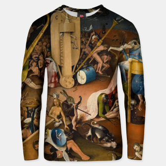Miniatur Hieronymus Bosch-The Garden of Earthly Delights (Hell) 3 Unisex sweater, Live Heroes