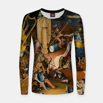 Miniatur Hieronymus Bosch-The Garden of Earthly Delights (Hell) 3 Women sweater, Live Heroes