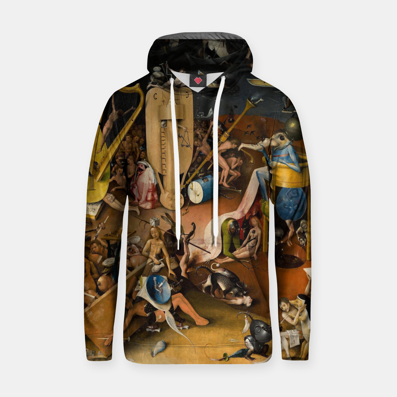 Image of Hieronymus Bosch-The Garden of Earthly Delights (Hell) 3 Hoodie - Live Heroes