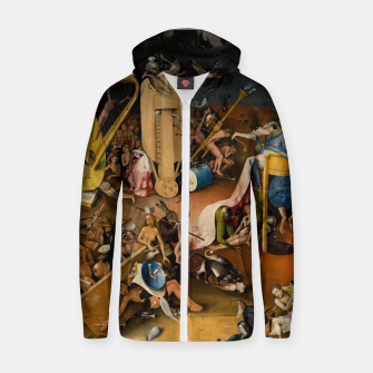 Miniatur Hieronymus Bosch-The Garden of Earthly Delights (Hell) 3 Zip up hoodie, Live Heroes
