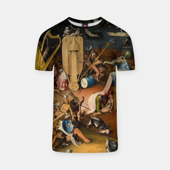 Miniatur Hieronymus Bosch-The Garden of Earthly Delights (Hell) 3 T-shirt, Live Heroes