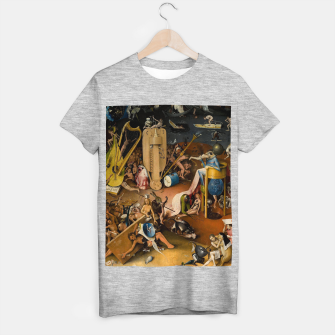 Miniatur Hieronymus Bosch-The Garden of Earthly Delights (Hell) 3 T-shirt regular, Live Heroes