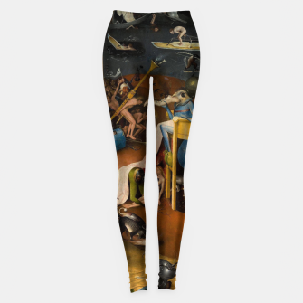 Miniatur Hieronymus Bosch-The Garden of Earthly Delights (Hell) 3 Leggings, Live Heroes
