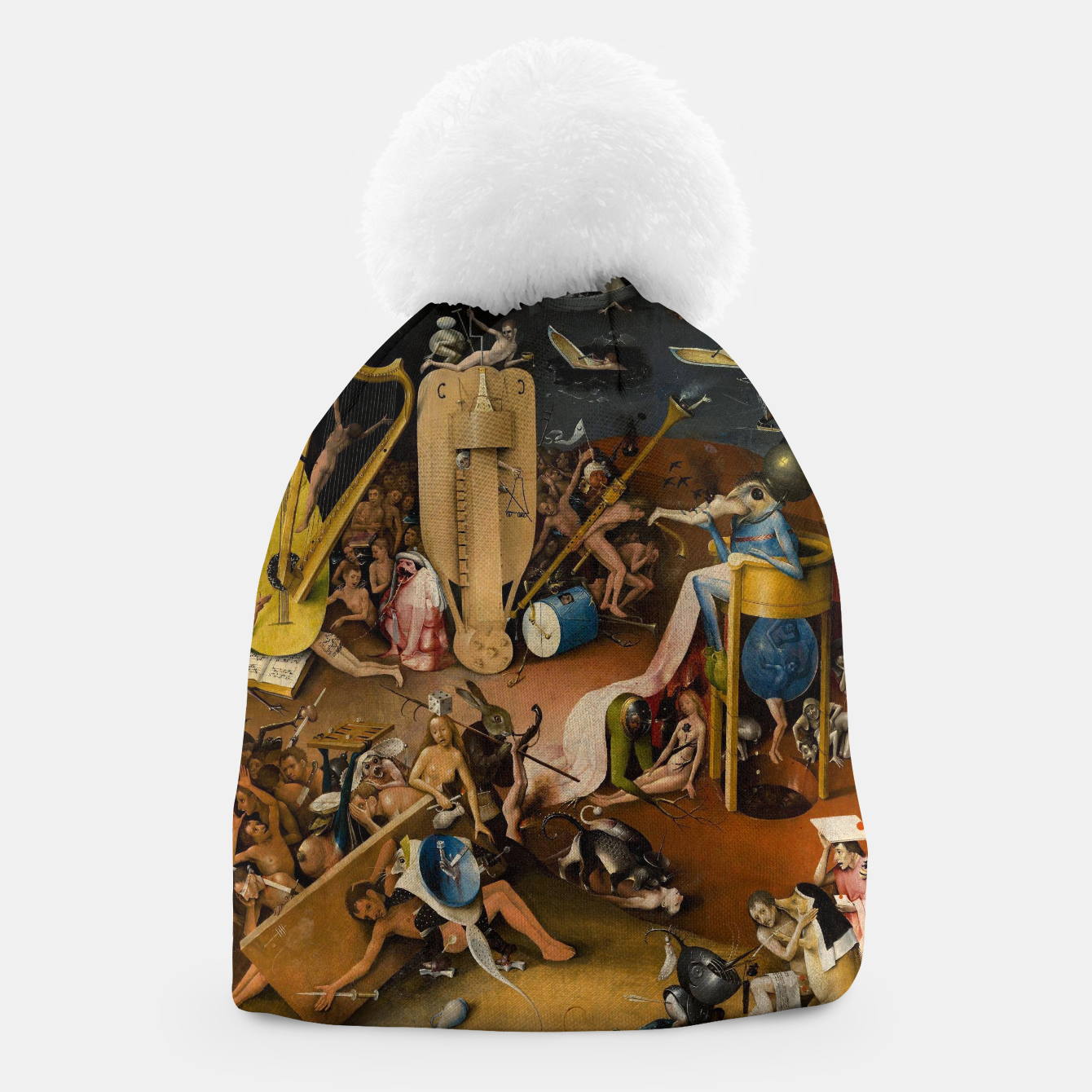 Image of Hieronymus Bosch-The Garden of Earthly Delights (Hell) 3 Beanie - Live Heroes