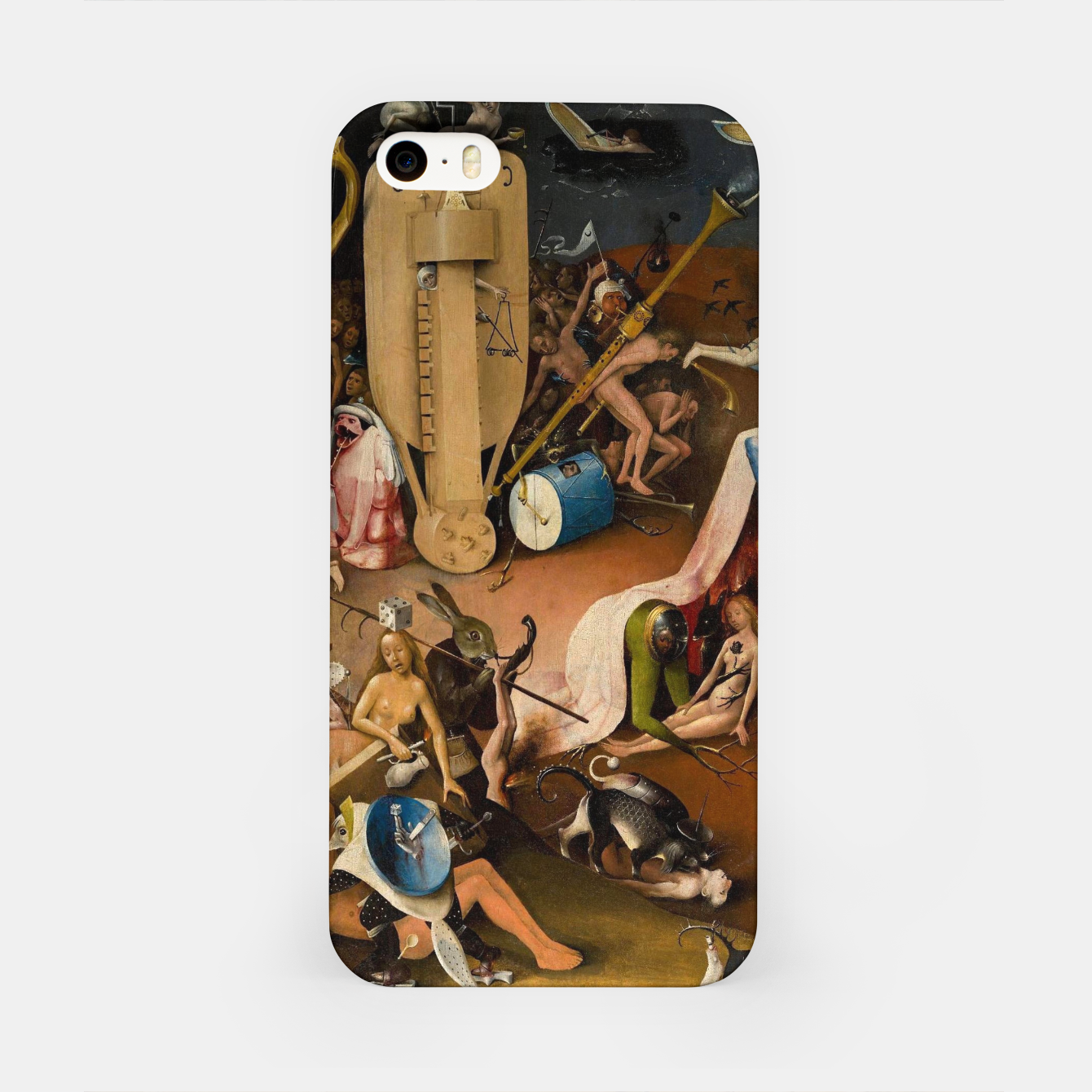 Image of Hieronymus Bosch-The Garden of Earthly Delights (Hell) 3 iPhone Case - Live Heroes