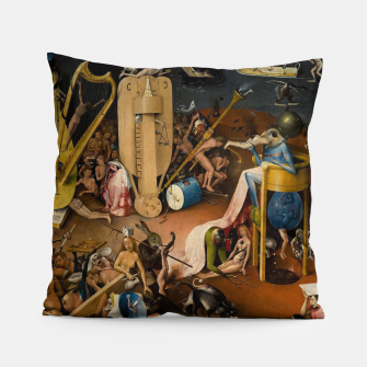Miniatur Hieronymus Bosch-The Garden of Earthly Delights (Hell) 3 Pillow, Live Heroes