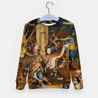 Miniatur Hieronymus Bosch-The Garden of Earthly Delights (Hell) 3 Kid's sweater, Live Heroes