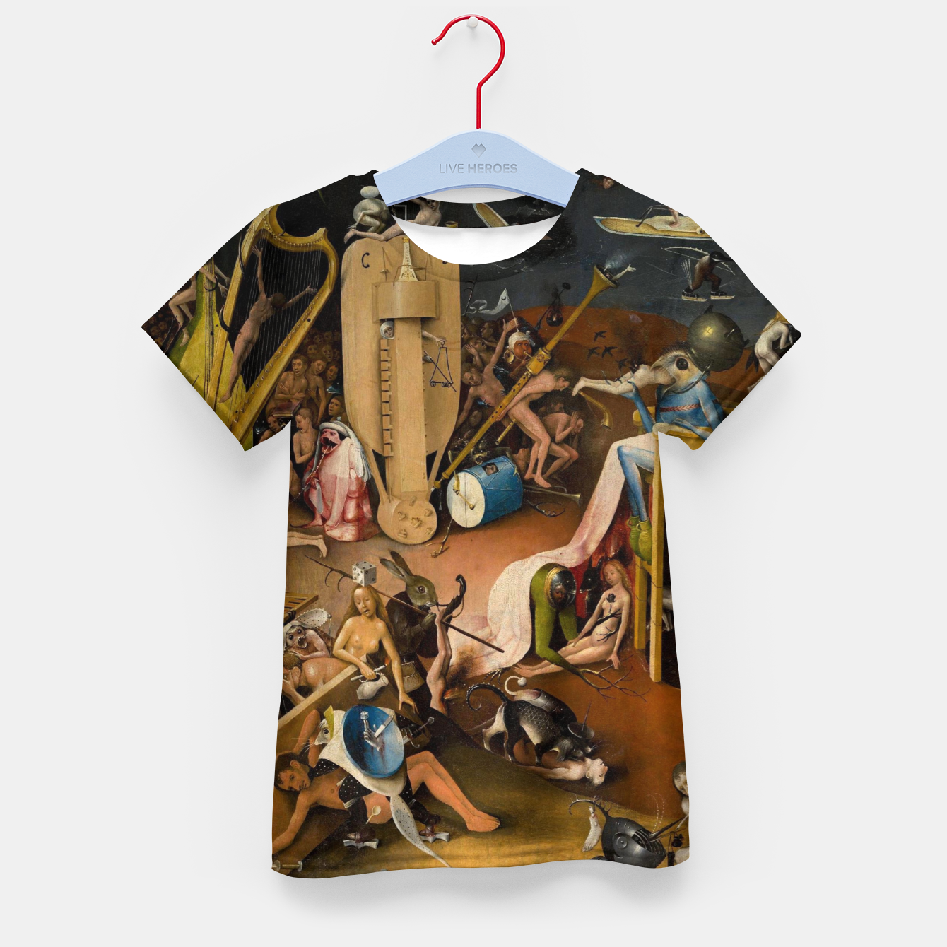 Image of Hieronymus Bosch-The Garden of Earthly Delights (Hell) 3 Kid's t-shirt - Live Heroes