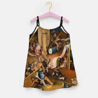 Miniatur Hieronymus Bosch-The Garden of Earthly Delights (Hell) 3 Girl's dress, Live Heroes